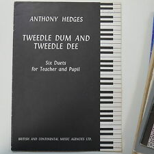 piano 4 hands duet ANTHONY HEDGES tweedle dum & tweedle dee