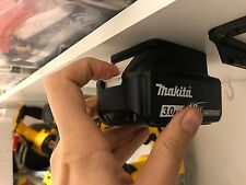 5x MAKITA 18v BATTERY Mount Holder for Shelf Rack Stand Holder Slots Van Case