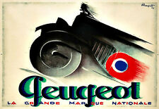 Peugeot La Grand Marque Nationale  Automobile Car   Deco Auto  Poster Print