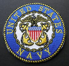 US NAVY USN NAVAL OFFICER DESIGN EMBROIDERED PATCH 4 INCHES