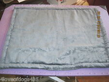 Black Cordory Dog Cat Crate Pad Handmade Bed  15 x 20 in
