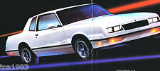 Big 1984 Chevy MONTE CARLO Brochure/Catalog: SS, Super Sport, CL, Coupe