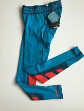 NEW Nike Pro Combat Dri Fit Max Hypercool Compression Tights Size Small Blue