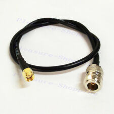 "RP SMA male plug to N female RG58 pigtail cable 50cm 20"" wifi wireless router"