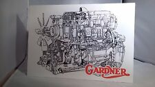 Gardner engine display board. Rally sign. Workshop, Garage. Classic commercial