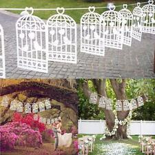 New Birdcage Lovebirds Heart Bunting Wedding Party Decoration Garland Banner