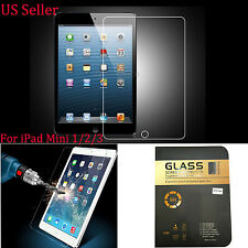 9H ULTRA CLEAR TEMPER GLASS SCREEN PROTECTOR For Apple iPad Mini 1/2/3