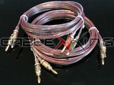 PAIR AIR SEAL 2 x 15m Terminated 2.5mm OFC Speaker Cables Terminated 4mm Plugs!