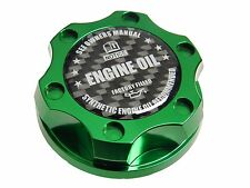 GREEN SYNTHETIC BILLET ENGINE OIL CAP FOR FORD 6.0L 7.3L TURBO DIESEL CF