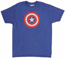 Marvel Original Mad Engine Captain America Blue T-Shirt Size L Tee