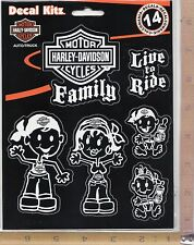Harley Davidson Motorcycle Family & Pet Decal Set Window Sticker Auto Truck 5390