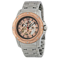 Invicta Specialty Rose Skeleton Dial Stainless Steel Mens Watch 16128