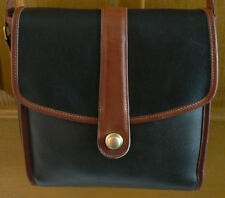 VINTAGE COACH USA SCOUT BAG SPECTATOR BLACK&TAN CROSSBODY #6890 REHABBED!CLEAN!