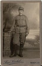 CDV photo KuK Soldat - Wien 1910er