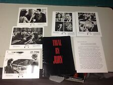 OOP! Movie Press Kit TRIAL BY JURY Film 8x10 photo mini posters no dvd!!!