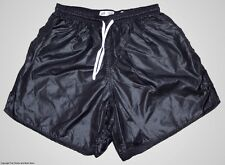 Black Wet Look Shiny Nylon Soccer Shorts by Soffe - Men's Small *HOT*