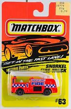 Matchbox MB 63 Merryweather Snorkel Fire Truck New On Card 1993