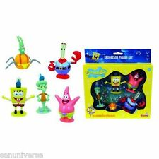 BOX SET 5 FIGURE GASHAPON-SPONGEBOB,PATRICK,KRABS,SQUIDDI,PLANKTON bikini bottom