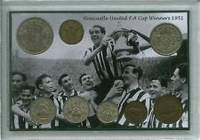 Newcastle United (las Urracas) Vintage F.a final de Copa ganadores moneda Set De Regalo De 1951