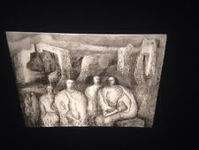 """Henry Moore """"Figures In Architectural Background"""" British Art 35mm Glass Slide"""