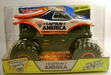 CAPTAIN AMERICA MARVEL 1/24 SCALE MONSTER JAM TRUCK DIECAST HOT WHEELS 2014