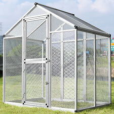 Large Pet Bird Cage Parrot Cockatiel Cockatoo Walk-In Flight Aviary 3 Doors New