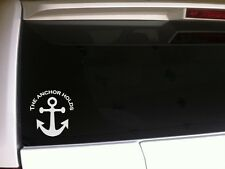 "The Anchor Holds Car Decal Vinyl Sticker 6"" *A20 religious Jesus Boat Symbol"