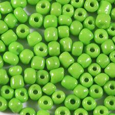 Perles de Rocailles en verre Opaque 4mm Vert Anis 20g (6/0)
