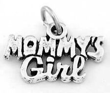 """SILVER MOMMY'S GIRL CHARM W/ 18"""" BOX CHAIN NECKLACE"""