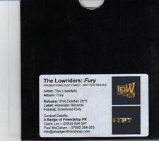(DR838) The Lowriders, Fury - 2011 DJ CD