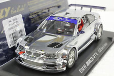 FLY E281 BMW M3 GTR CHROME NEW IN DISPLAY 1/32 SLOT CAR