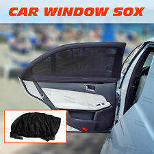 2xUniversal Sun Shades Sock Rear Side Curtain Car Window Sox Baby Kid Protection