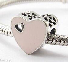 SWEET HEART LOVE CHARM Bead Sterling Silver.925 for European Bracelet 713