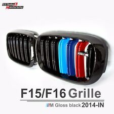 For BMW F16 X6 Series F15 X5 Series X5M Dual Slat M Color Front Grille