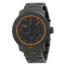 MOVADO BOLD MEN'S BLACK PVD TITANIUM BLACK DIAL CHRONO DATE WATCH * 3600190
