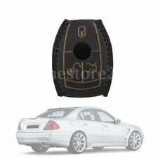 Leather Car Smart Key Case Cover Black For Mercedes-Benz W203 W210 W211 AMG W204