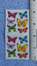 Sandylion BUTTERFLIES Strip of 2 Sqs RETIRED Stickers OUT OF PRINT RARE