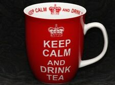 CREATIVE TOPS KEEP CALM And DRINK TEA RED Porcelain Mug