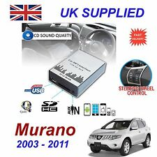 Nissan MURANO MP3 SD USB CD AUX Input Audio Adapter Digital CD Changer Module