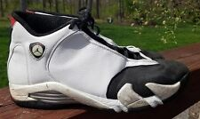 Nike Air Jordan 14 XIV Original 1998 White Black Varsity Red Black Toe Size 12