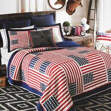 TOMMY HILFIGER  AMERICAN DREAM TWIN QUILTED COVERLET STANDARD  SHAM  2PC