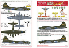 Kits-world calcomanías 1/48 b-17e Nemesis De aeroembolism # 48150