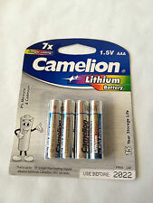 AAA 1.5V Lithium Battery Camelion Longer Lasting in High Drain Devices