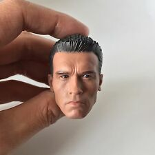 Custom Arnold Schwarzenegger 1/6 Head Sculpt for Phicen M34 T800 Terminator Body