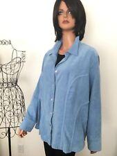 Avenue Plus Size 22/24  Woman Jacket Blue Designer Fashion