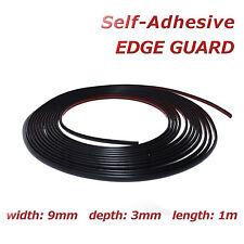 1m protector de borde negro 9mm tira de moldeo Auto-Adhesivo Decorativo Adorno De Protección
