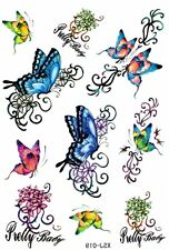 T405 Temporary Einmal TATTOO SCHMETTERLING TRIBAL bunt Körper Body Tattoos