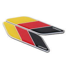 2x Auto Car German Germany Flag Stripes Sticker Decals For BMW VW Opel Audi
