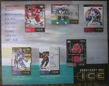 "2000-2001 Upper Deck ""Ice"" NHL Hockey Trading Cards 8x11"" Advertising Sheet"