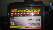 SUPERCHARGE SILVER PLUS  MAINTANCE FREE 55D23L CAR BATTERY SUIT CAMRY MAZDA